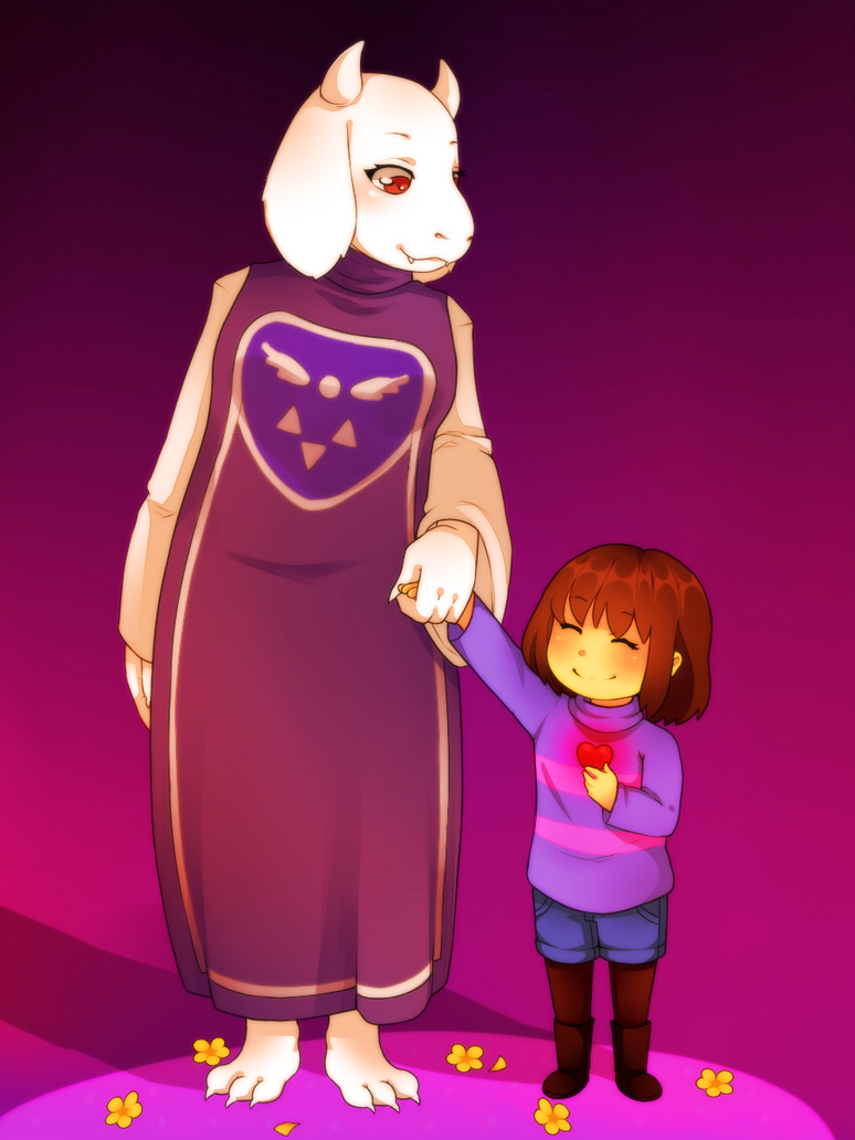 Toriel And Frisk Spare By Wosda On Deviantart