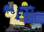 OC: Train pony, Lilly Bell