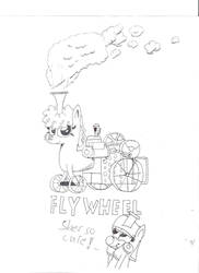 Flywheel the Traction Engine Pony by BroTraMan