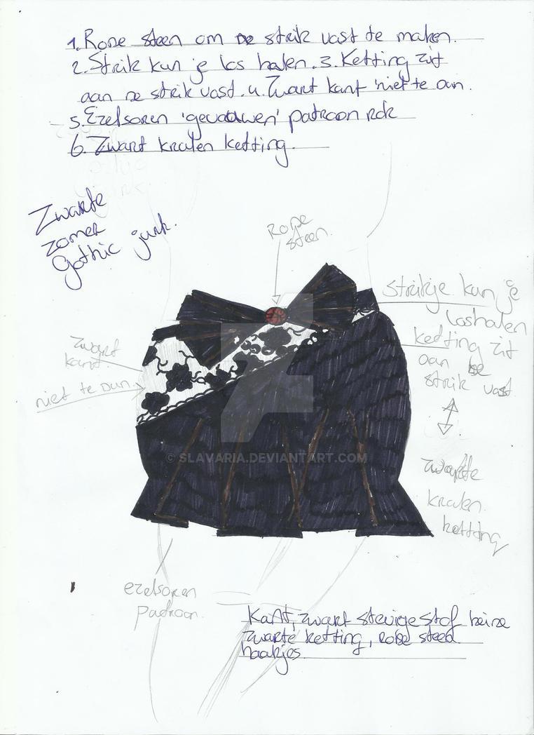 Zomerse Gothic Rok 'Kort' design 17.04.14 by Slavaria