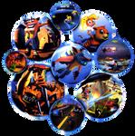 Crash Bandicoot: Warped - Warp Spheres