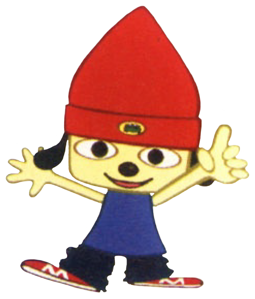 PaRappa The Rapper (PS1) - Parappa - Point by PaperBandicoot