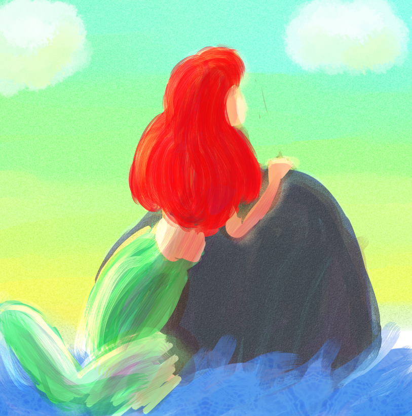 Ariel -It's beautiful up here- :WIP: by cutiekekegirl