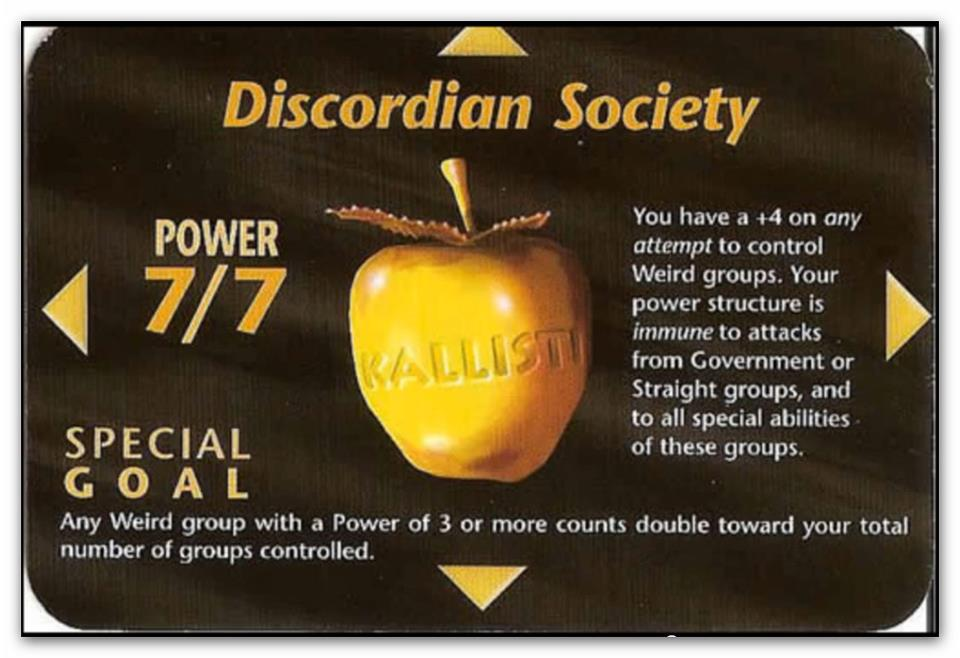 Illuminati Cards - Discordian Society (Power Card) by icu8124me