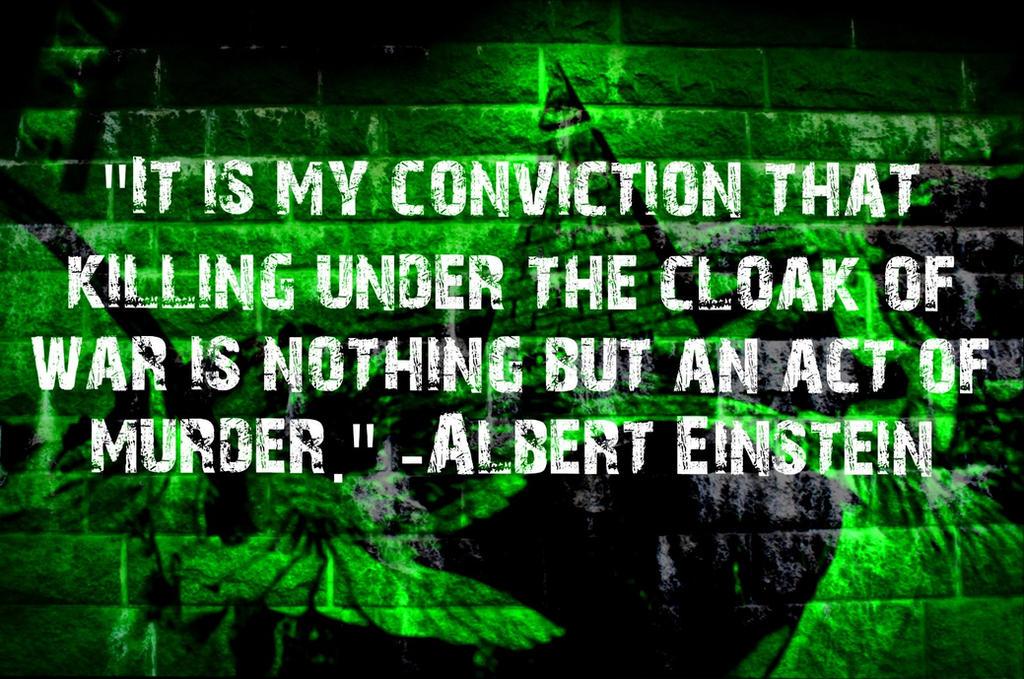 Albert Einstein Quote about War by icu8124me
