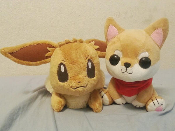 Shibao and Eevee by krnbboyj