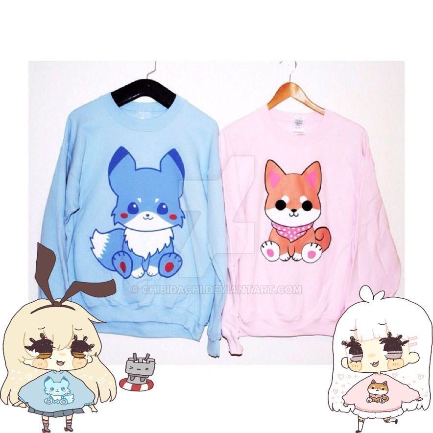 Mizuiro Kitsune and ShibaO sweater by krnbboyj