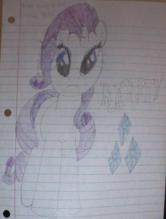 my_second_drawing_of_rarity_colored_by_l