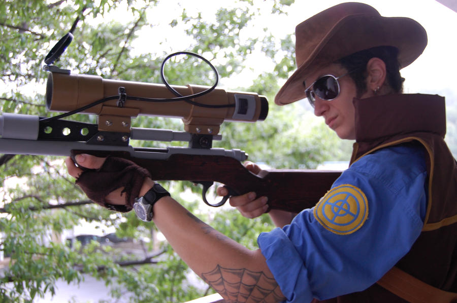 BLU Sniper cosplay by Jackov