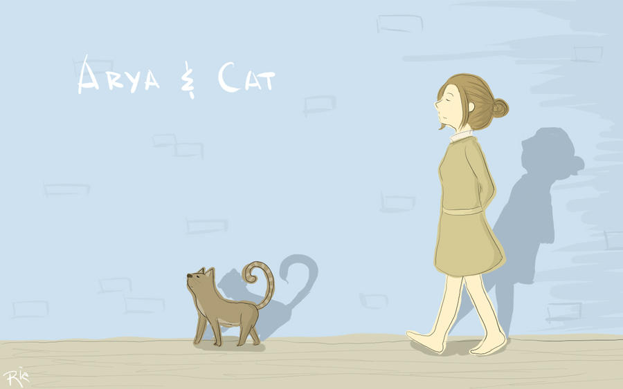 Arya and Cat by SaerwenApsenniel