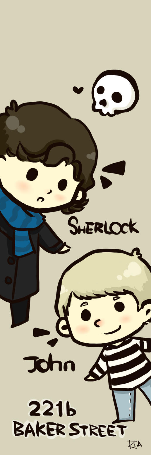 Johnlock Bookmark by SaerwenApsenniel