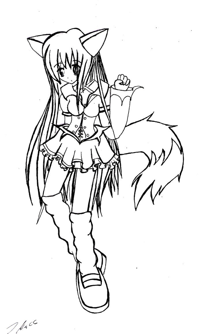 How To Draw A Anime Fox Girl