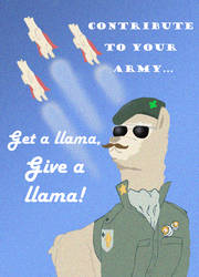 Llama Propaganda Poster