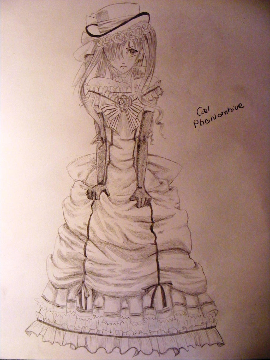Ciel Phantomhive in dress by ThePomroka