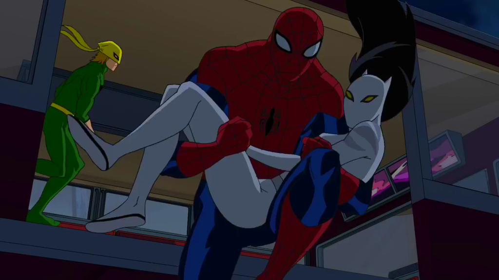 Ultimate spiderman white tiger and spiderman kiss - photo#4