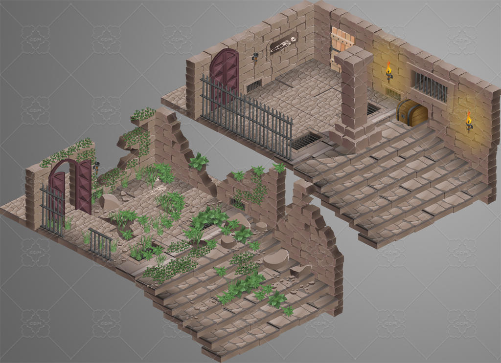 Lost Temple: isometric tiles for sale by gafanha on DeviantArt