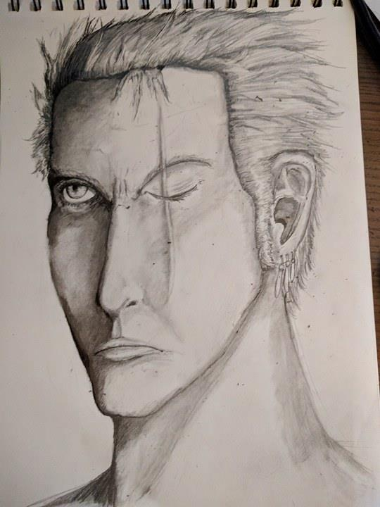 roronoa zoro from one piece by Facepallm