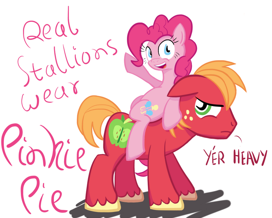 Real Stallions Wear Pinkie Pie by NotaPseudonym