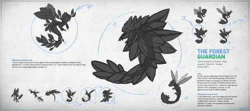 The Forest  Guardian. Silhouettes research work.