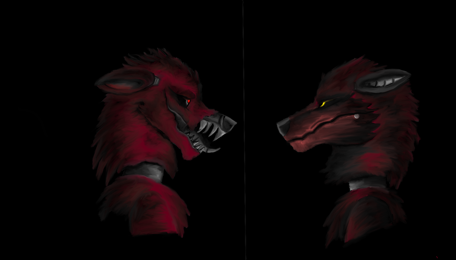 Nightmare Foxy And Withered Foxy Fnaf By Avitraitor On