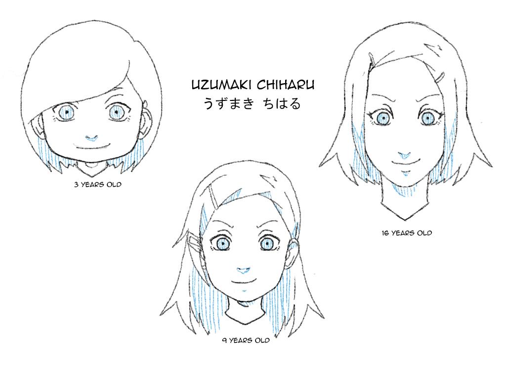 Uzumaki Chiharu Ages by uzunae