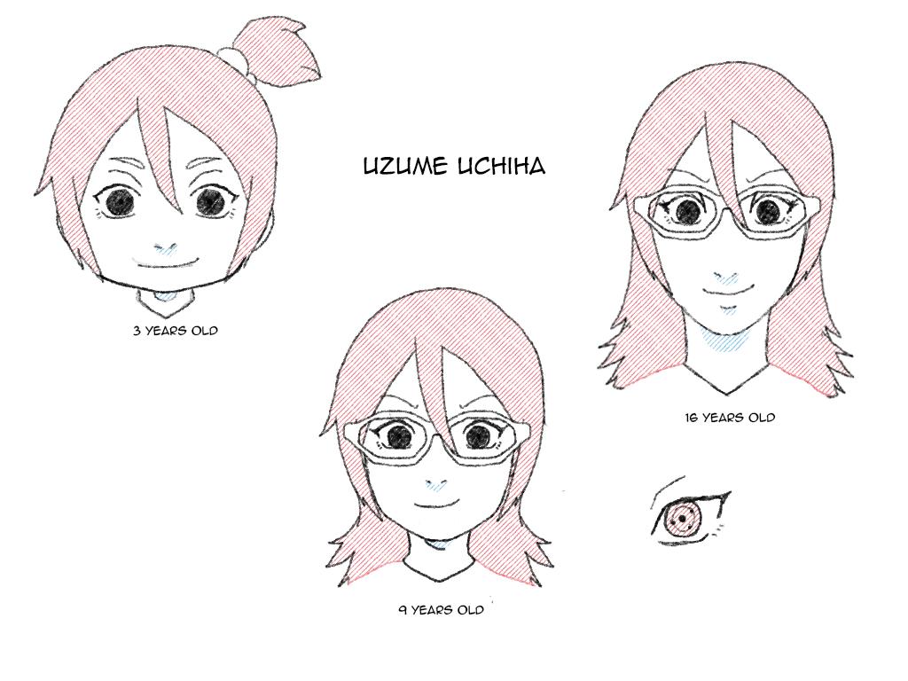 Uchiha Uzume Ages by uzunae