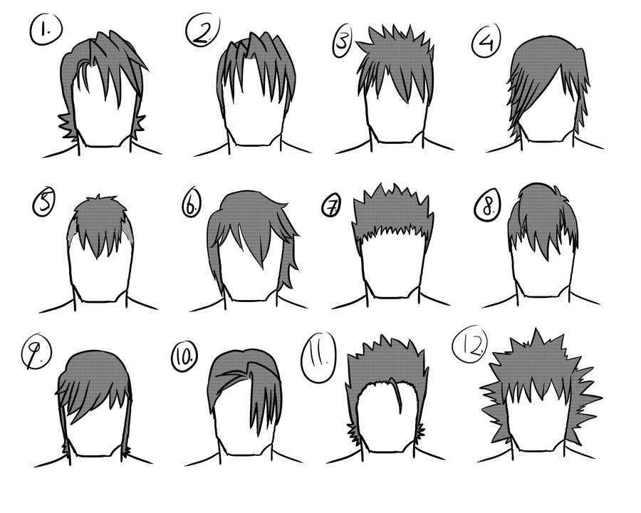 12 Male Hairstyles By Gamertjecool On DeviantArt