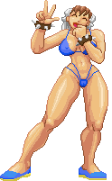 Chun li in bikini by Real-Warner