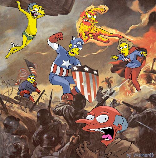 Invaders simpsons by Real-Warner