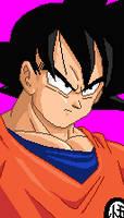 Goku portrait by Real-Warner