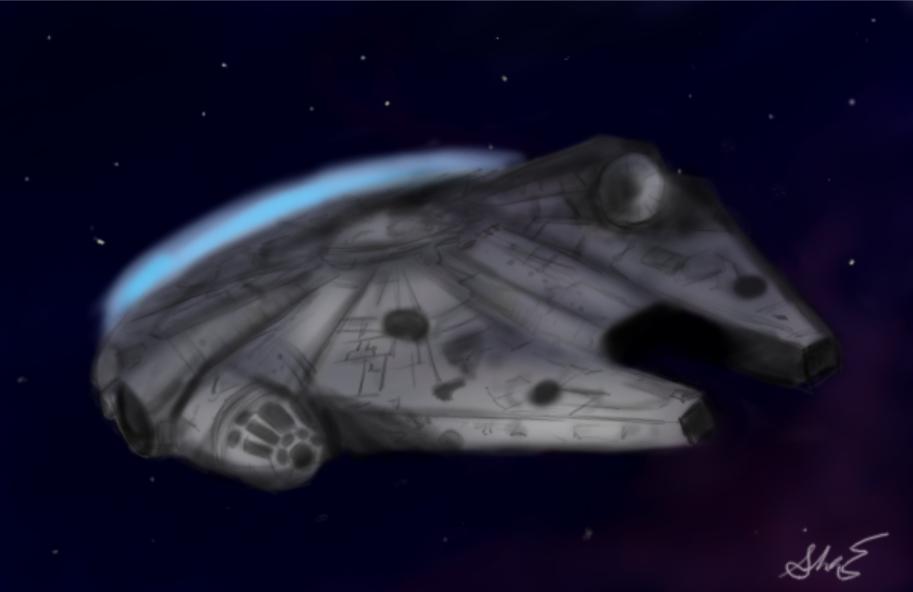 Millennium Falcon by FangGirl24