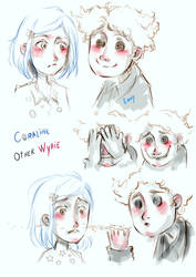Coraline and other Wybie.