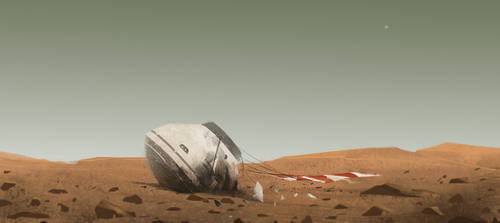 Rough Landing on Mars by Anjuin