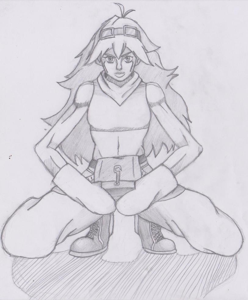 Caroline (MSA) in Narancia Ghirga's pose by YohanJohnson