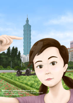 Fern Selfie With Taipei 101