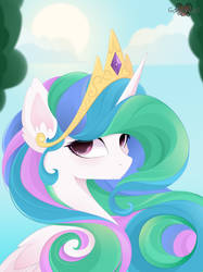 Princess Celestia (art) by xSatanielx
