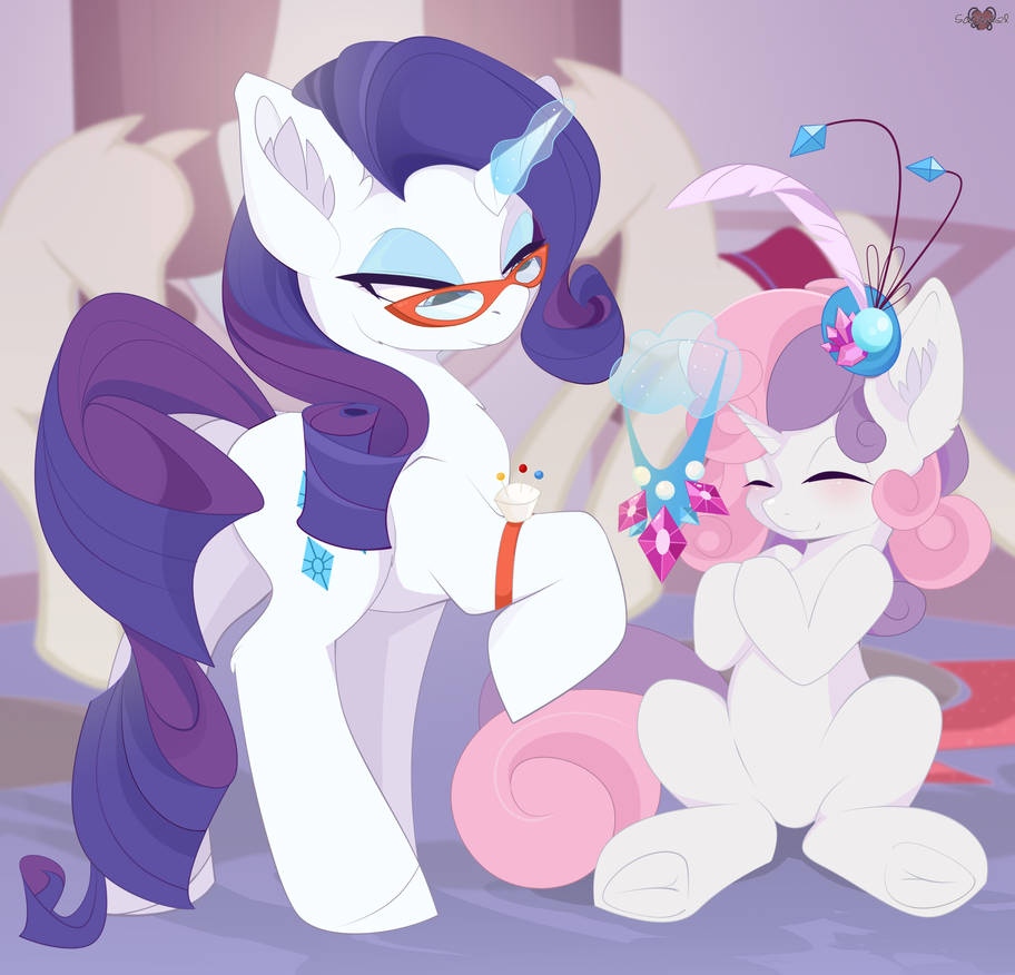 rarity_and_sweetie_belle_art__mlp__by_xs