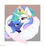 Princess Celestia + Princess Luna (MLP art)
