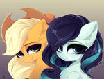 Applejack + Coloratura (art)