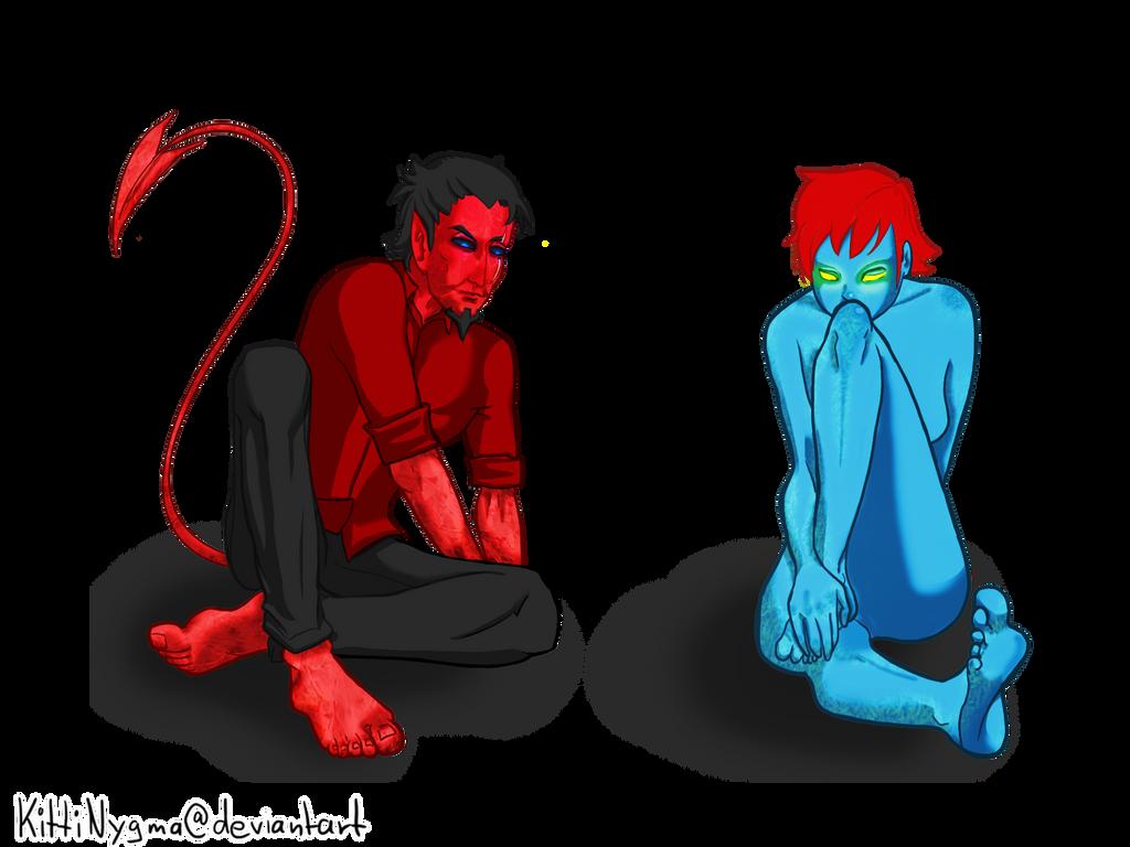 Azazel and Mystique by LauraFMeis on DeviantArt