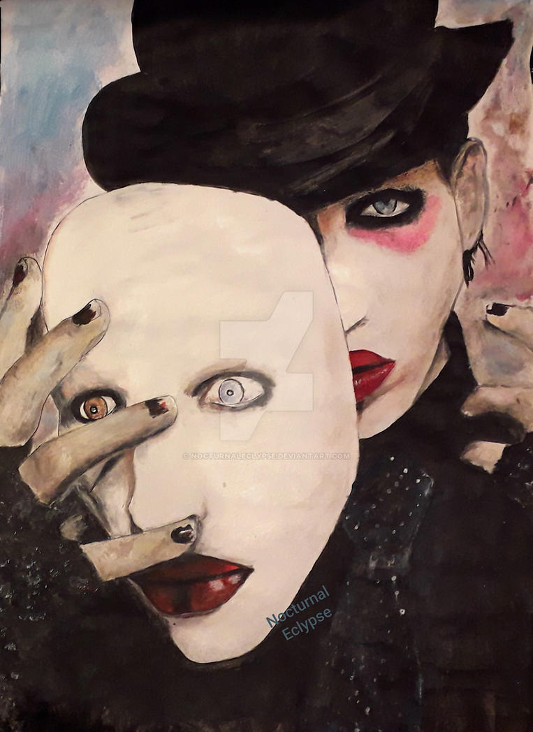 Marilyn Manson Portrait by nocturnaleclypse