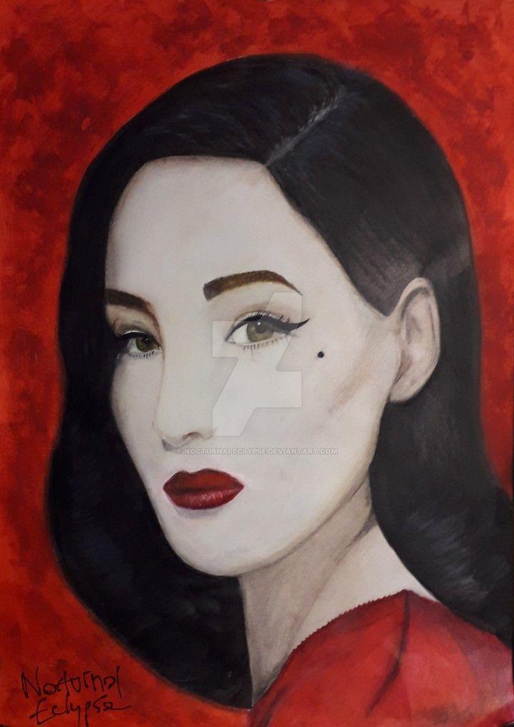 Dita Von Teese portrait by nocturnaleclypse