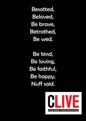Wedding Poem -Nuff Said -Clive Blake -Wedding Poet by CliveBlake