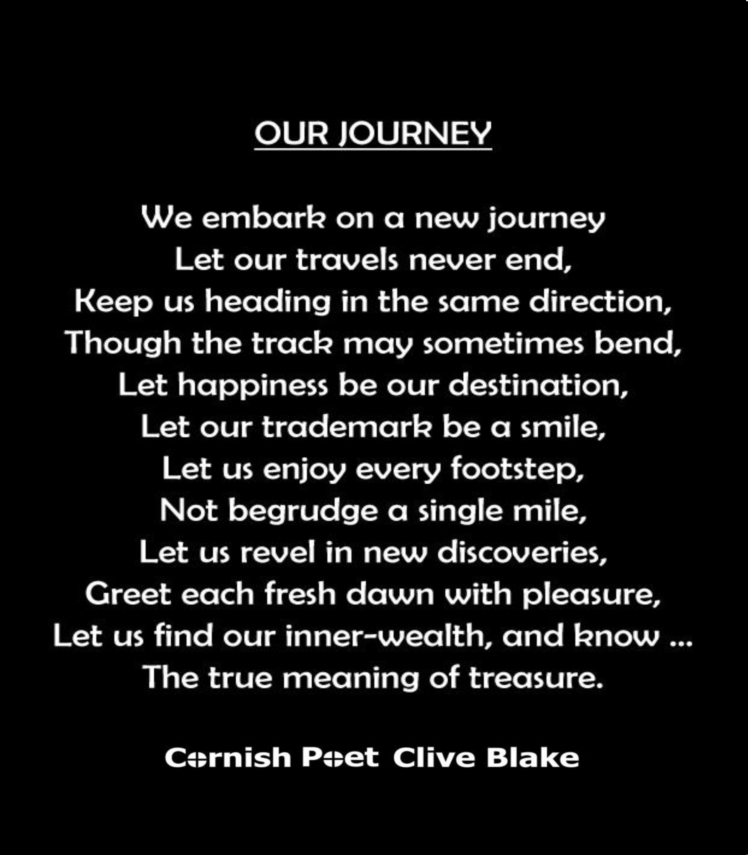 Our Journey Bbcp Wedding Poem Wedding Poetry By Cliveblake