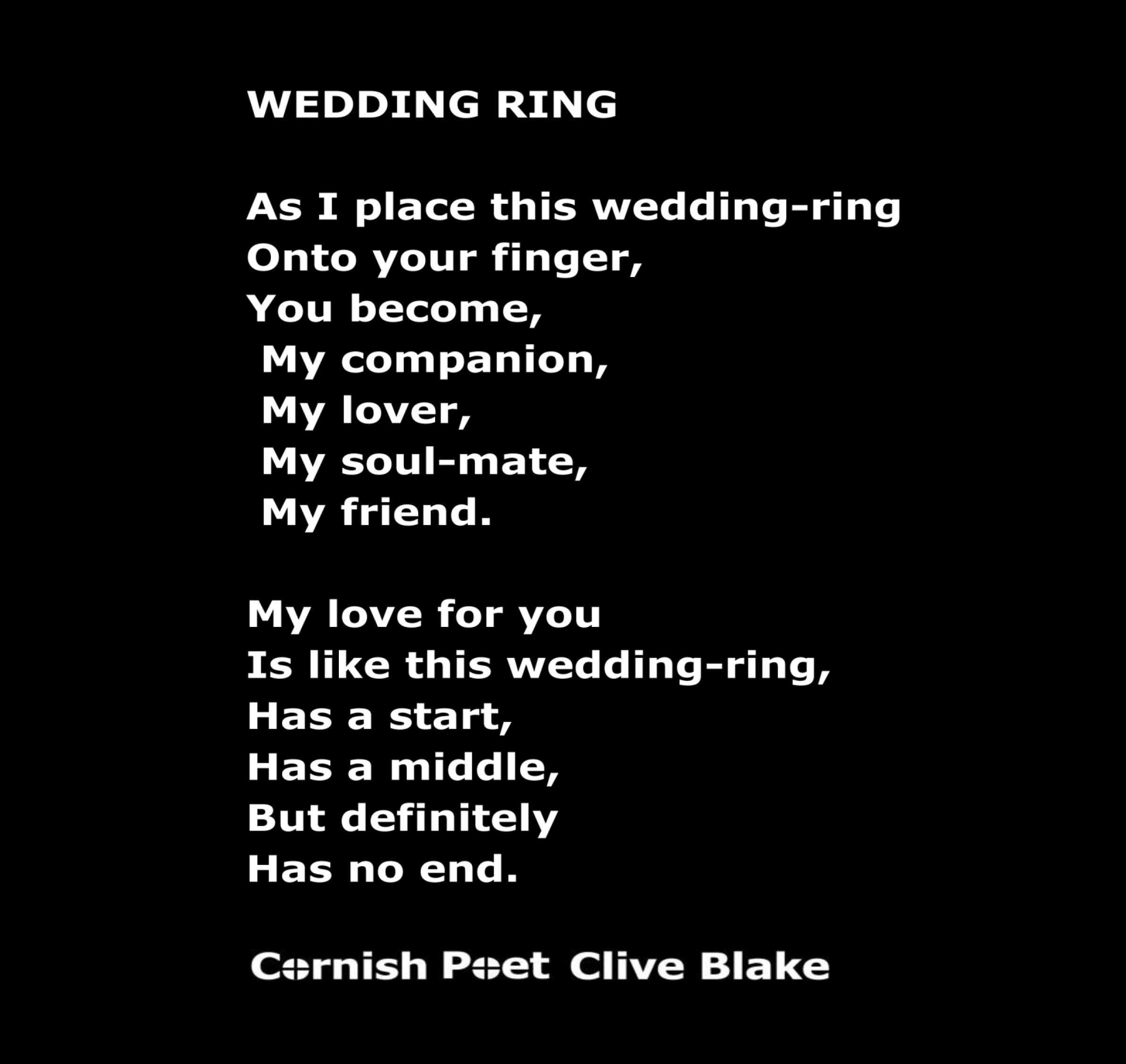 Wedding ring poem