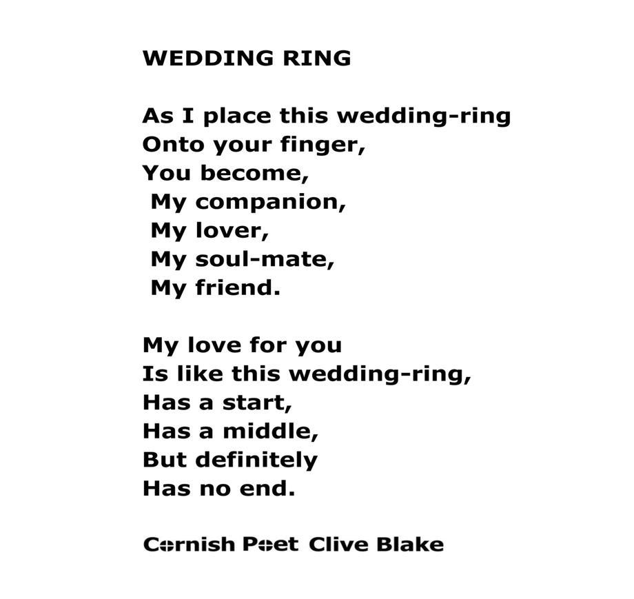 My wedding ring poem