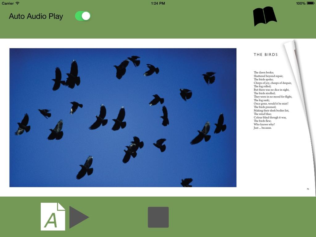 Poetry iPhone iPad App p074 The Birds -Cornish by CliveBlake