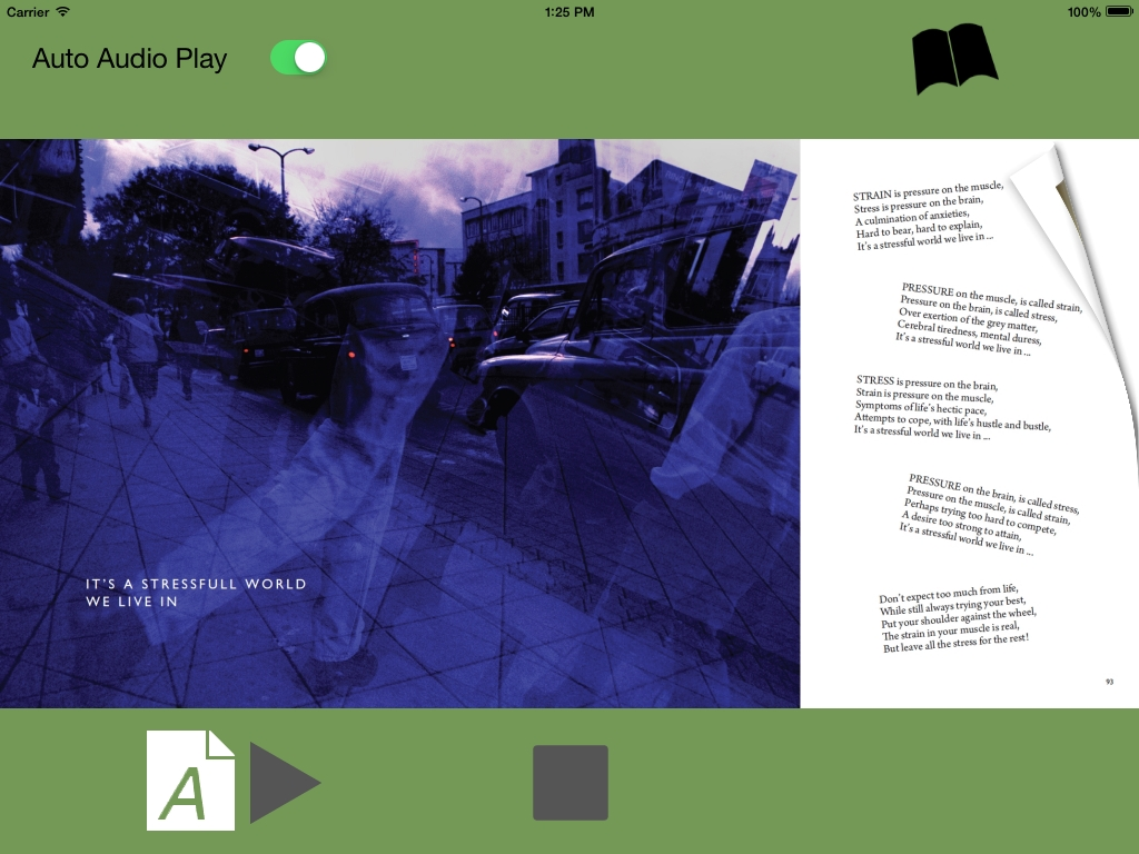 Poetry iPhone iPad App p092 It's A Stressful World by CliveBlake