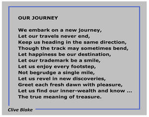 Our Journey -Poem by Cornish Poet Clive Blake