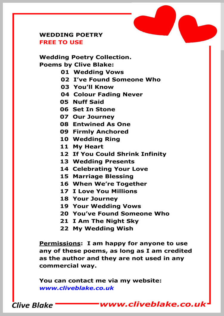 How Often Should You Change Your Car Tires, Wedding Poems Free To Use A Wedding Poems C Blake By Cliveblake, How Often Should You Change Your Car Tires